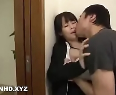 Cheating Japanese wife Hardcore sex with neighbour