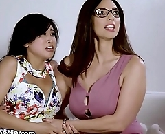 Busty Lesbian MILF Helps Young Asian Conquer Fears!