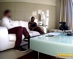 Perfect Ebony Teen Deep Throats Big White Cock