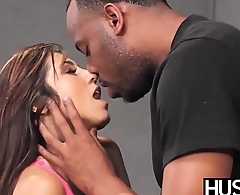 Busty cheerleader Reena Sky receives facial interracial