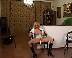 Hot blond forced up the ass