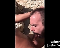 Deepthroat session at the beach