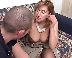 Distracted mother-in-law gets fucked by her stepson