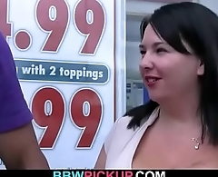 Black dude picks up huge boobs plumper