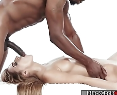 Latina gets her pussy screwed by black dick