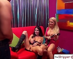 The Stripper Experience - Jessica Jaymes &amp_ Helly Hellfire fucking a big dick, big boobs and big booty