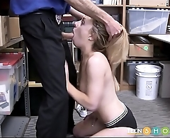 Cute Blonde Teen Shoplifter Kate Kenzi Rough Fuck From Horny Security Guard