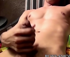 Smoking fetish stud enjoys a solo cock stroke session