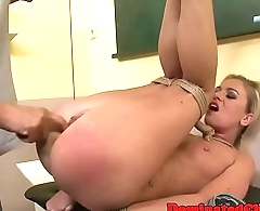 Dominated euro teacher gets pussyfucked