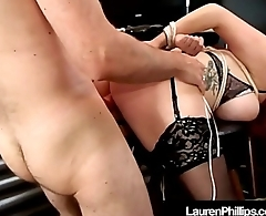 Red Headed Hottie Lauren Phillips Bound, Punished &amp_ Fucked!