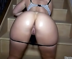 Perfect PAWG Teasing On Staircase