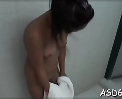 Boy gets cock squeezed and pokes it to a hot thai love tunnel