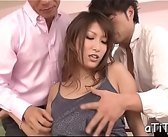 Enchanting tits japanese delights two demanding male rods