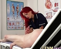 Cfnm nurse gives handjob