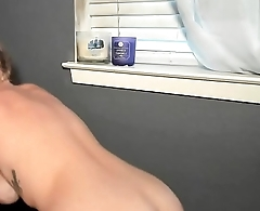 Tanlines Huge Fake Boobs Camgirl Tease