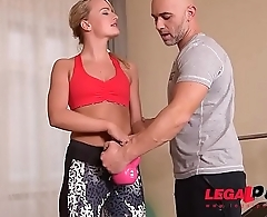 Big Booty Fitness Slut Victoria Pure gets Balls Deep Anal &amp_ Dp Fuck GP070