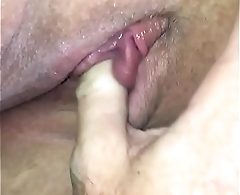 Wife clit play swollen and juicy home made sucking device