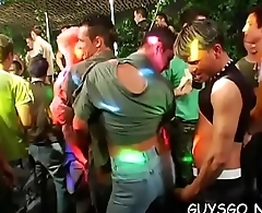 Bunch of men with hungry assholes having a blast at gay orgy