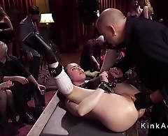 Slave in socks deep anal fisted