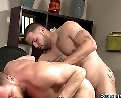 Gay dudes face spunked on