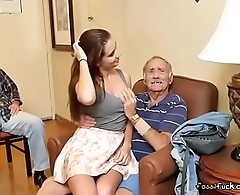 Gorgeous Teen Naomi Alice Blows Hung Old Guy