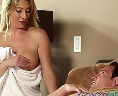 Experienced cougar Jennifer Best fucks with young guy