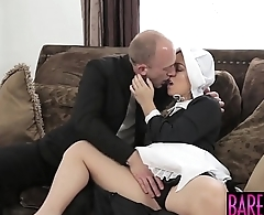 Cleo Vixen rides her hung Amish lovers cock passionately