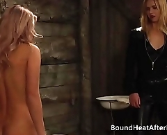 Chains of Pride: Full Body Inspection With Chain Around Her Neck