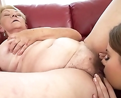 Blonde Granny in Lesbian Action