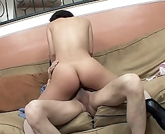 Teen girl Kristina Rose seduces older stud to fuck her in the living room