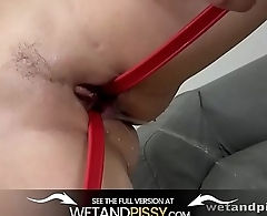 Wetandpissy - Pee desperation sets in for Antonia Sainz who toys her pussy