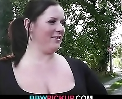 Smart guy tricks fat babe into hot sex