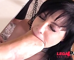 Submissive Slut Damaris Fisted, Fucked &amp_ DP'_ed Balls Deep By Two Big Dicks GP060