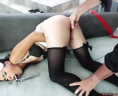 Exotic MILF analyzed by master in the living room