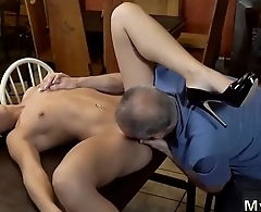 Teen gets fucked by daddy Can you trust your gf leaving her alone
