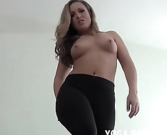 Stroke your dick to me in my yoga pants JOI