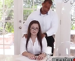 Black guy boss fucks Gabriellas juicy ass