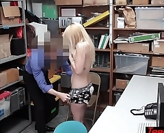 Unusual strip search by a LP officer turns into fucking