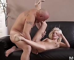 Guy fuck his old partner'_ boss'_s step sister Horny light-haired wants