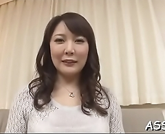 Asian playgirl rides a cock while receiving deep anal toying