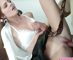 Baby-Face Schoolgirl Is Shaved And Horny