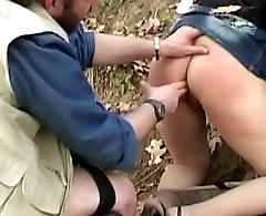 Mature pigs abused in the woods