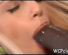 Lascivious white angel gets holes drilled so well by ebony gangsta